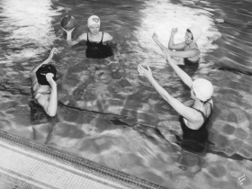 Students In Pool in 1935