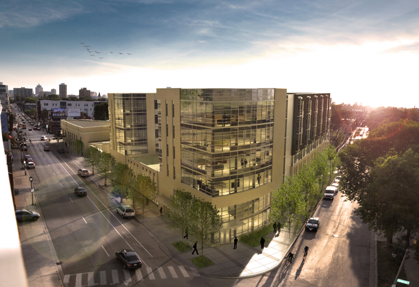 Aerial rendering of Greenwich Park Apartments