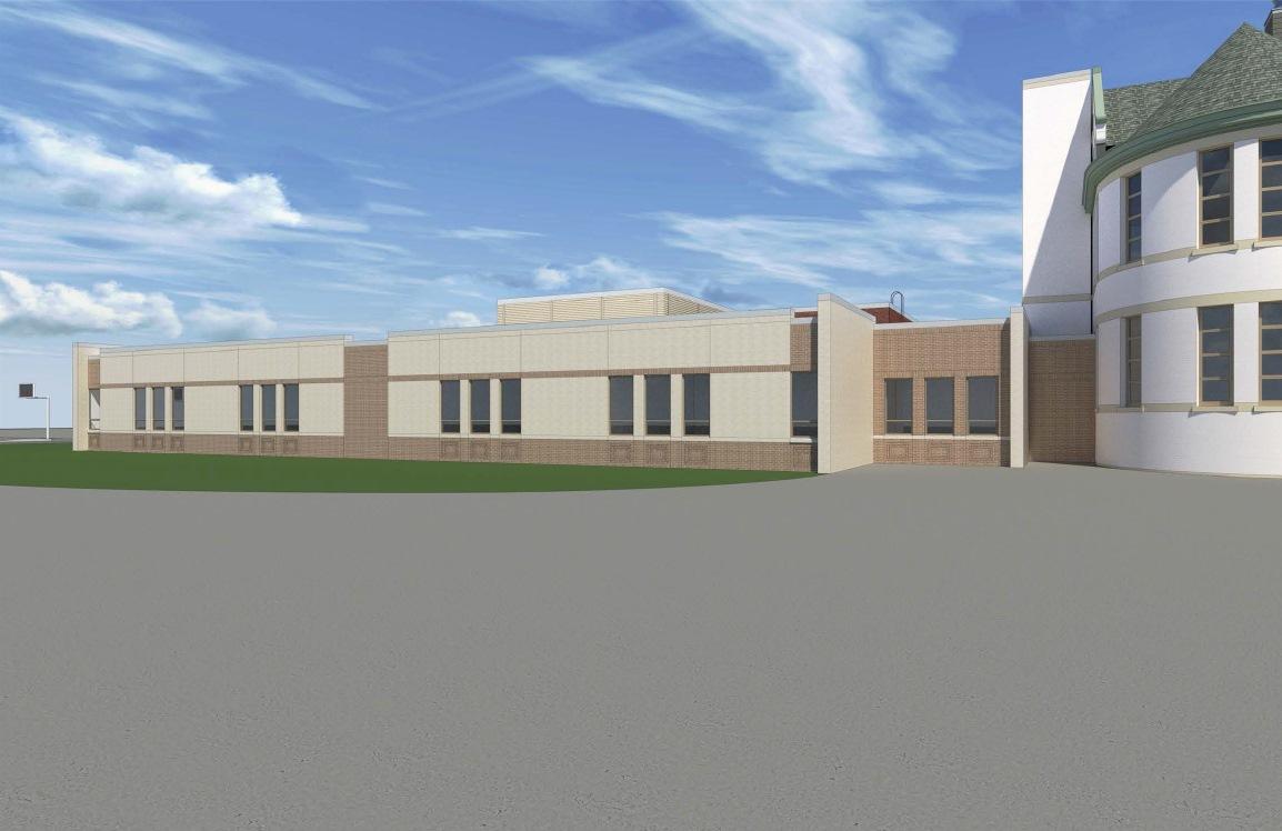 Rendering of the Maryland Avenue Montessori School addition