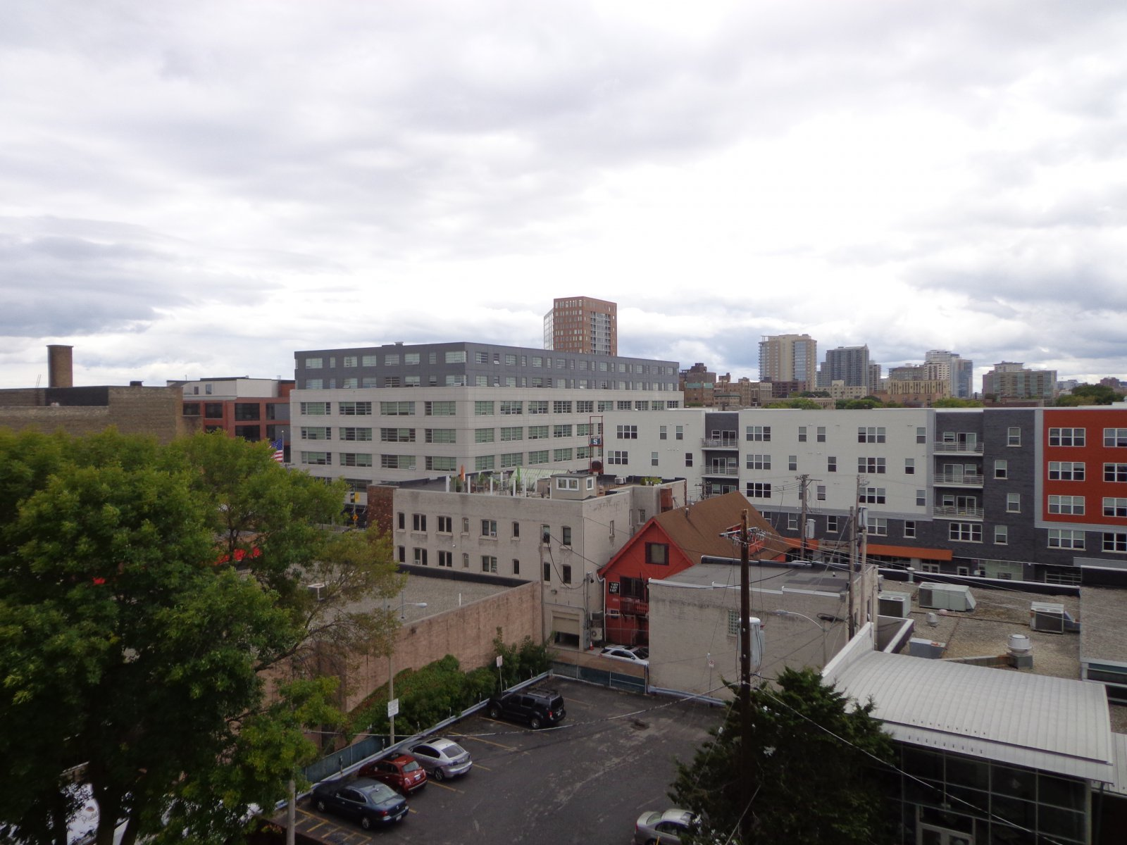 View from the Standard at East Library.