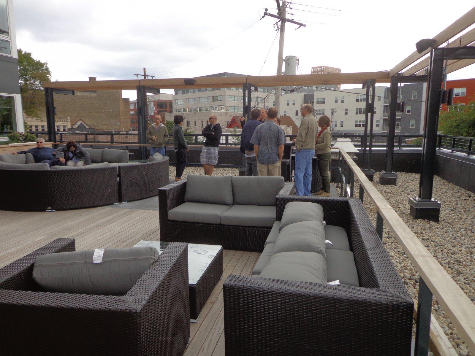 Rooftop deck.