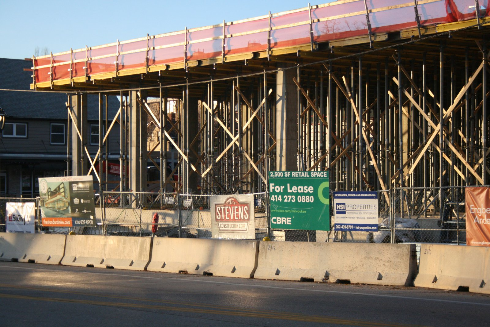 Construction of The Standard at East Library.