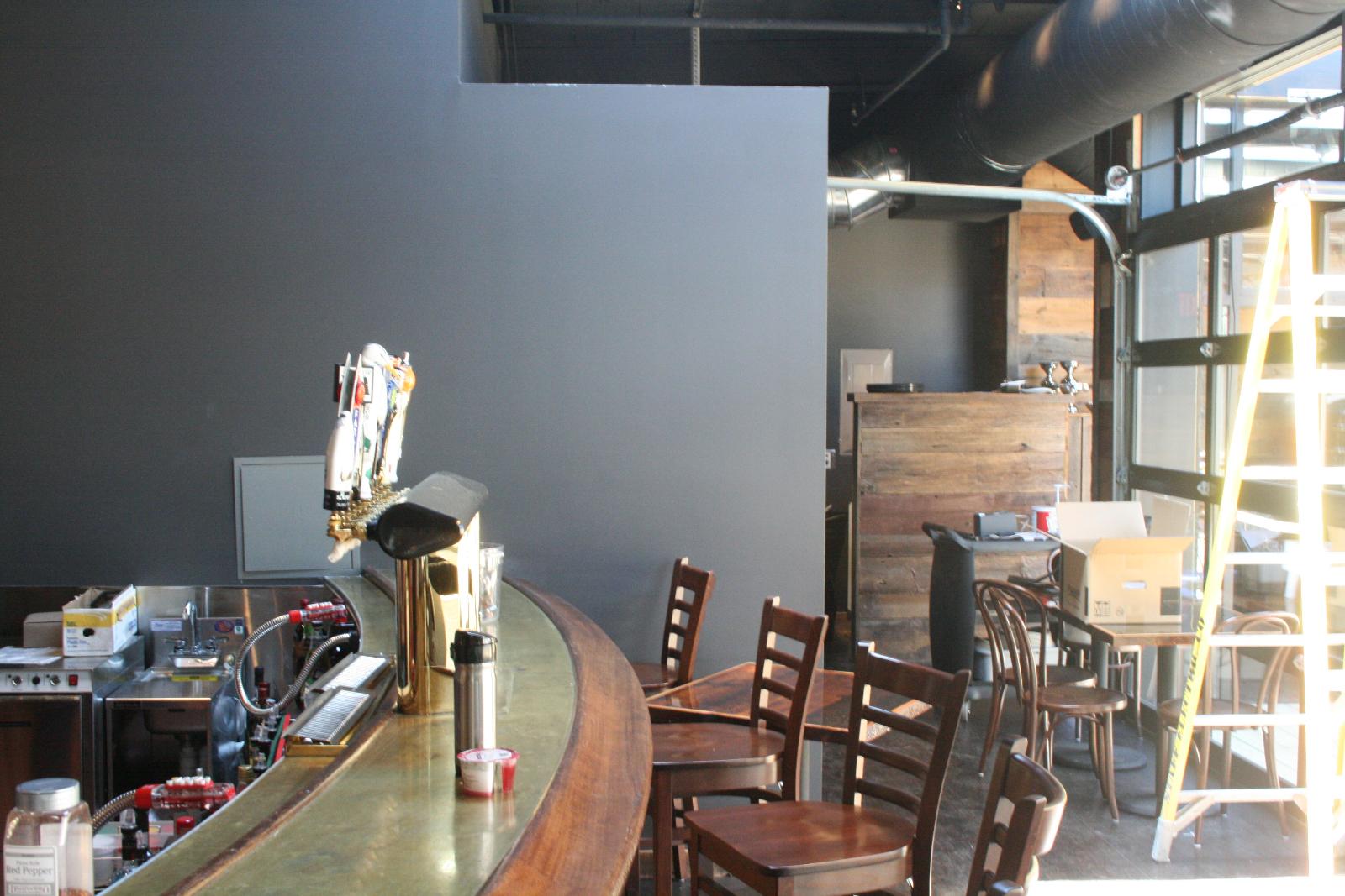 Second floor bar.