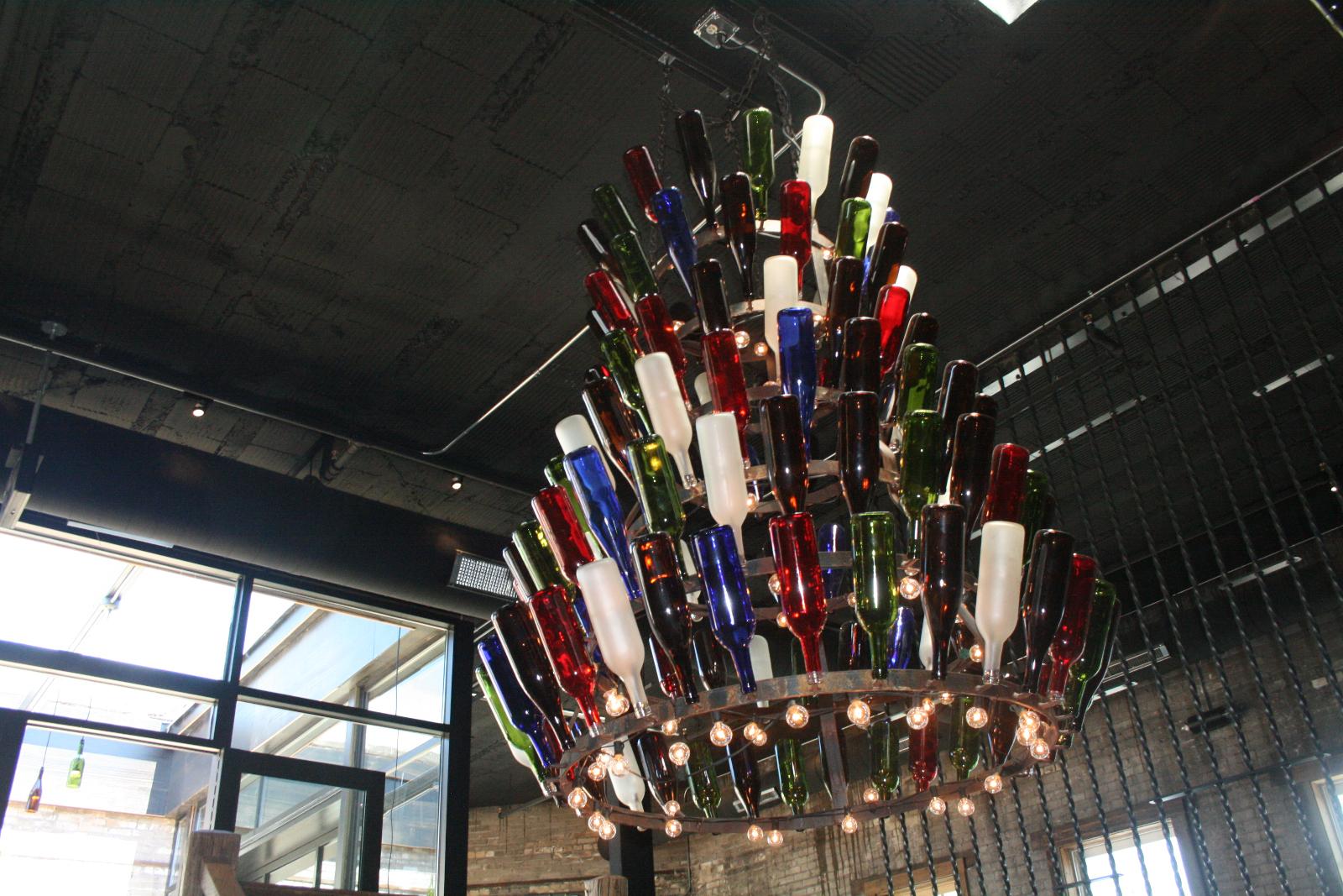 Wine chandelier.