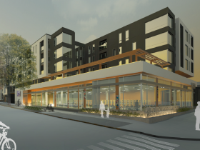 The Standard at East Library - Rendering Full View.