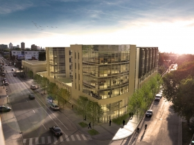 Aerial rendering of Greenwich Park Apartments. Rendering by Korb Tredo Architects.