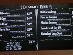 Draught beer board.