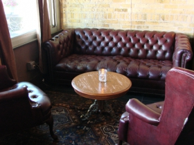 Front room seating in Hotel Foster.