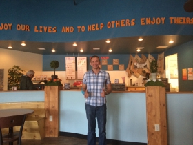 Joshua Janis of Refuge Smoothie Cafe at 2328 N Farwell Ave. Photo by Lisa Bonvissuto.