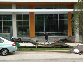 Ray Chi designed Serpent being installed.