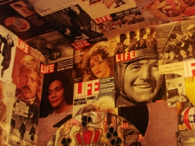 Life magazines on the walls. Photo by Nastassia Putz.