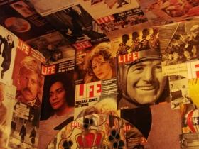 Life magazines on the walls. Photo by Nastassia Putz.
