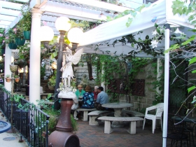 Patio at Paddy's Pub. Photo by Nastassia Putz.