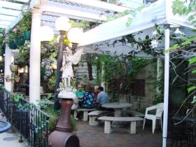 Patio at Paddy's Pub. Photo by Nastassia Putz.