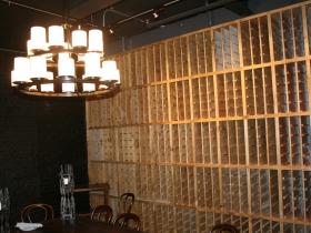 Pizza Man's new wine room.