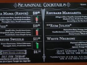Seasonal cocktail board.