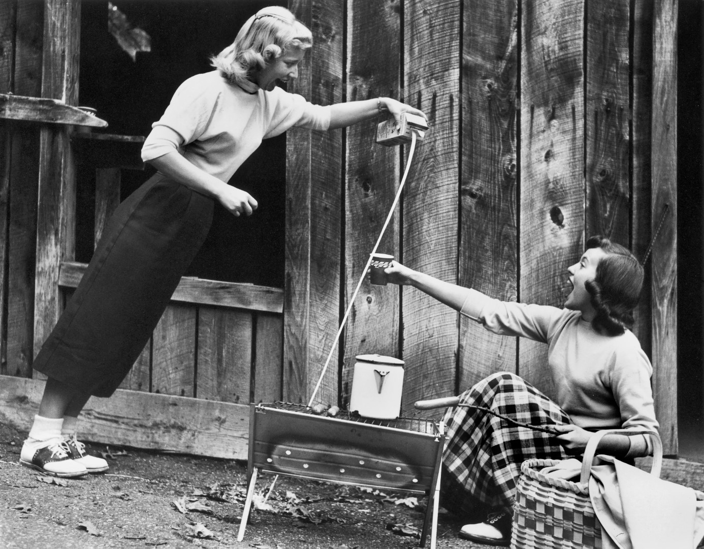 Pouring Milk at the Wonder Spot, 1957
