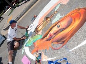 Chalk artist, Craig Rogers