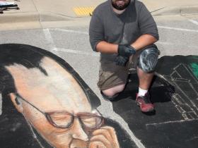 Shawn McCann, chalk artist from Minneapolis, MN