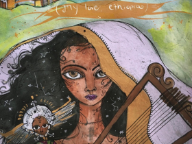 Gabrielle Tesfaye, Yene Fikir Ethiopia (My Love, Ethiopia) (video still), 2019. Hybrid Film & Animation.