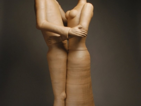 "Gerit Grimm, Big Couple, Stoneware, 2012 74"" x 27"" x 27"""