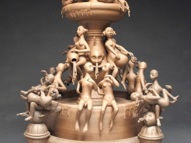 "Gerit Grimm, Fountain, Stoneware, 2012 41"" x 26"" x 26"""