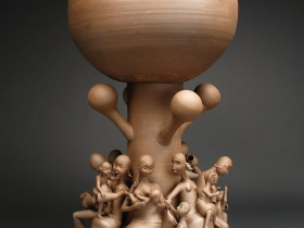 "Gerit Grimm, Village Tree, Stoneware, 2011 56"" x 23"" x 23"""