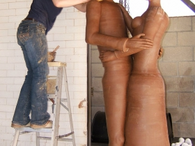 Gerit Grimm working on Big Couple, 2012