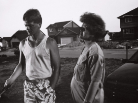 Tom Bamberger, Grilling in the Suburbs, gelatin-silver print, 1991