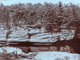 The Narrows, Dells of the Wisconsin, 1900