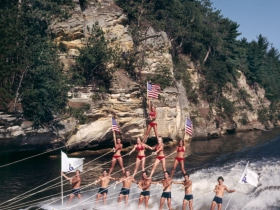 Tommy Bartlett Pyramid of Waterskiers, ca. 1970s