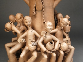 "Gerit Grimm, Village Tree, Stoneware, 2011, 56"" x 23"" x 23"""