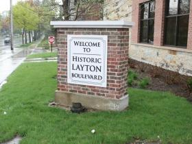 Historic Layton Boulevard Marker