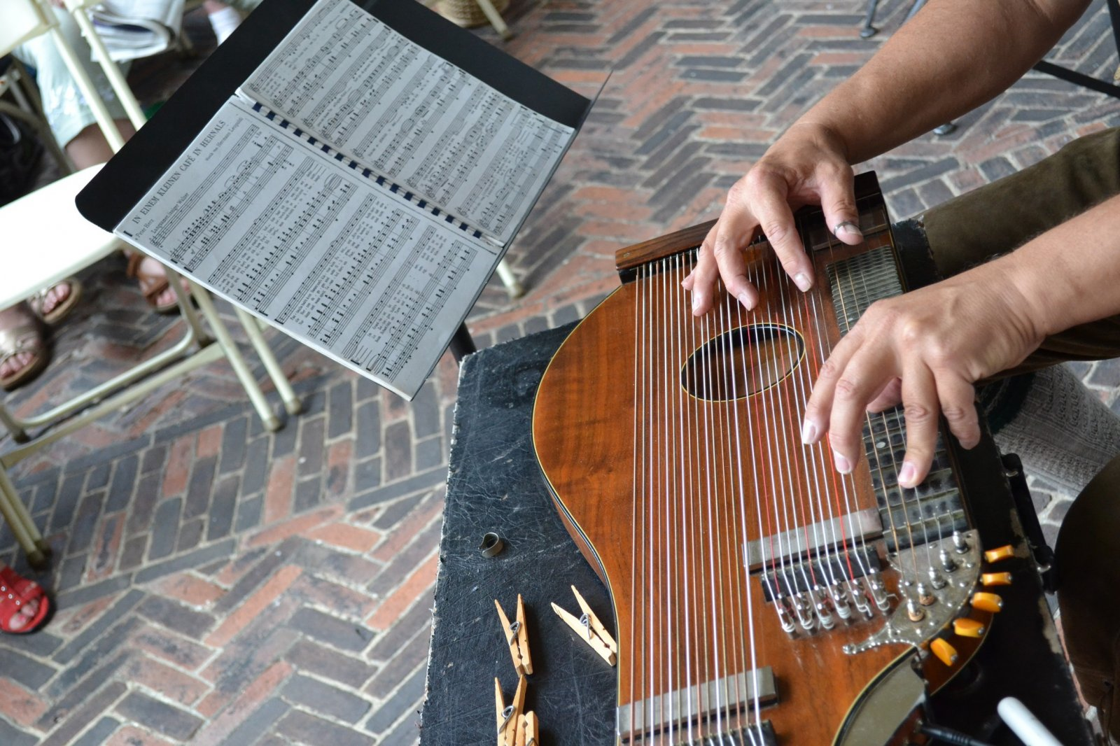 The Zither is a stringed instrument dating back to 400 BC.