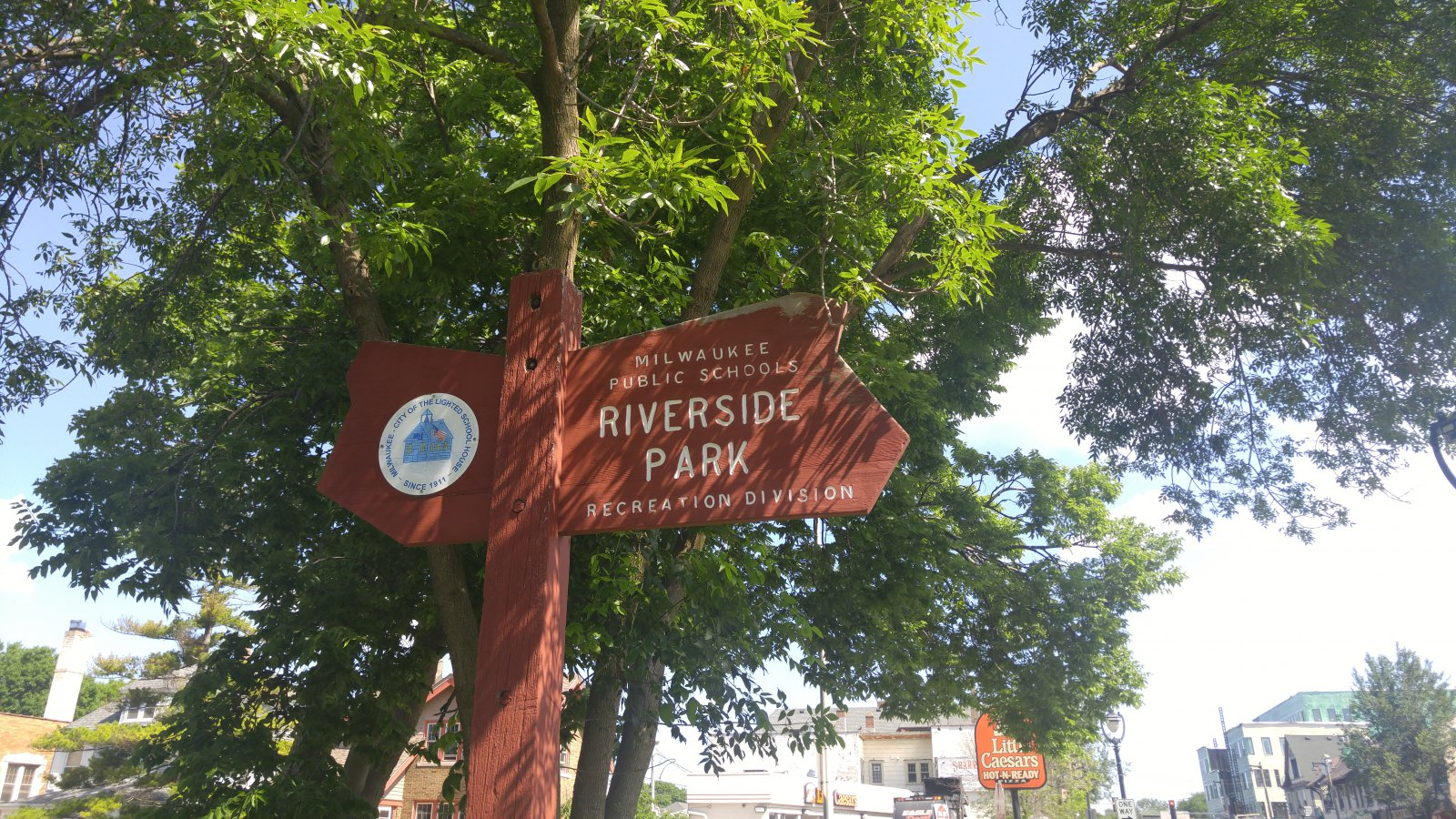 Riverside Park is at the west end of Newberry Boulevard