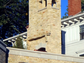 New chimney on Michael White's Milwaukee home.