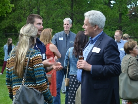 Alderman Robert Bauman Chats with Guests