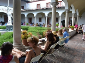 Guests enjoying the performance