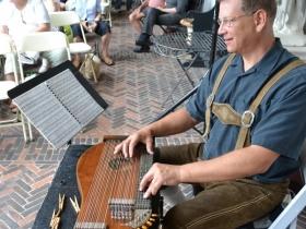 Milwaukee native Kurt Von Eckroth, plays a zither piece from Vienna