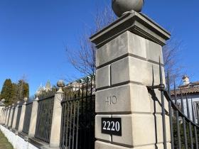 The entrance to Villa Terrace