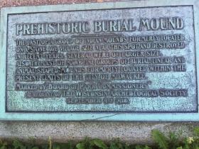Prehistoric burial mound marker