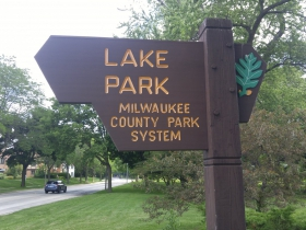 Lake Park is on the east end of Newberry Boulevard