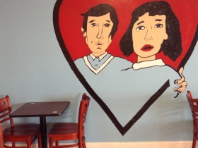 Mural inside Love Handle.