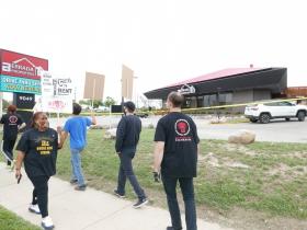 Protest at Berrada Properties