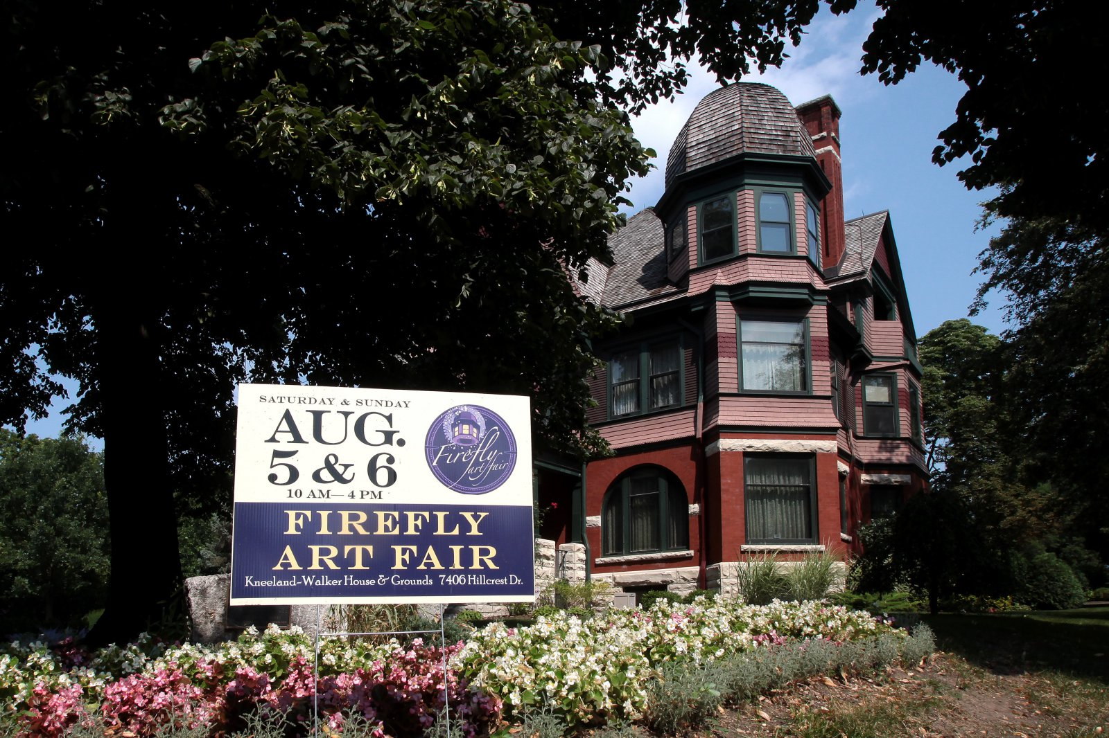 The Wauwatosa Historical Society\'s 31st Annual Firefly Art Fair held at the Kneeland-Walker House and gardens on August 5 & 6, 2017