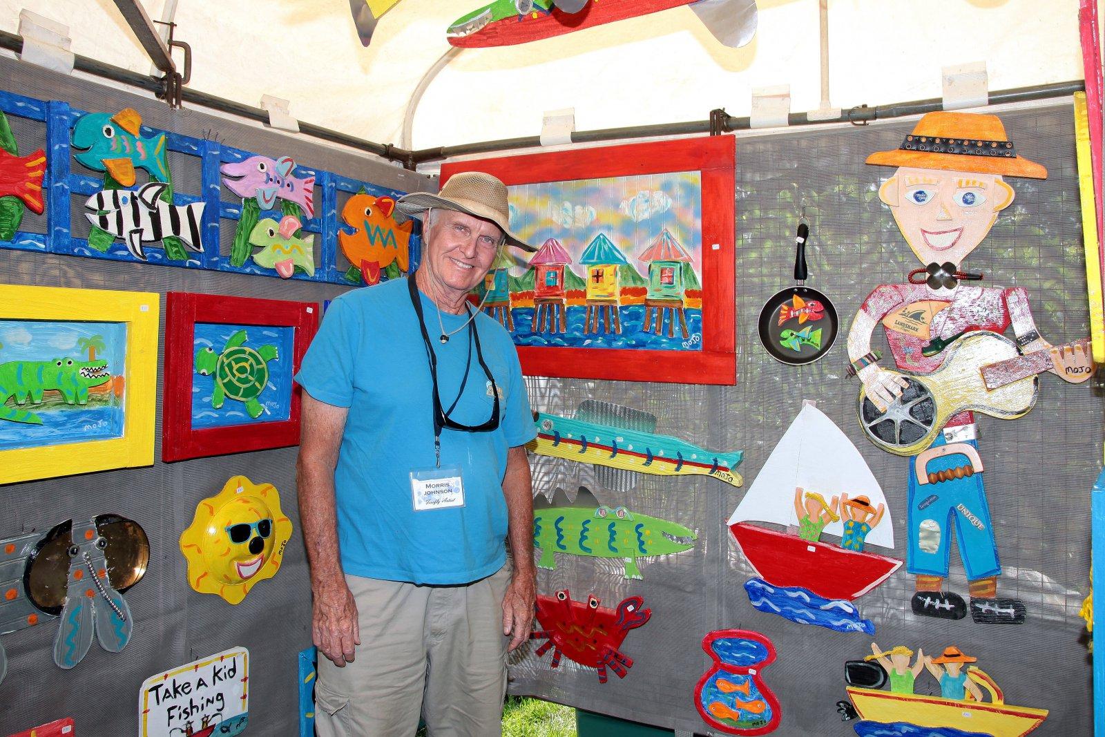 Folk artist, Morris E. Johnson from St. Petersburg, Fl