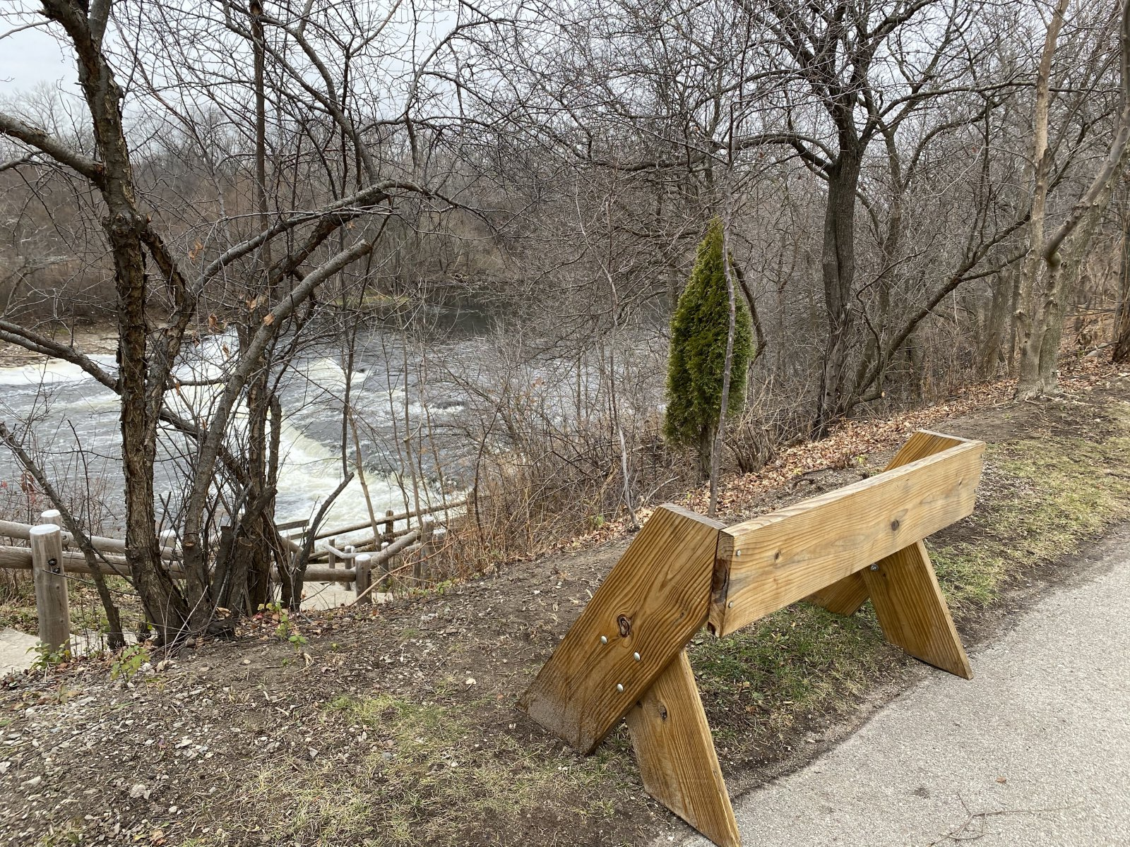 Bench installed by Friends of Estabrook Park