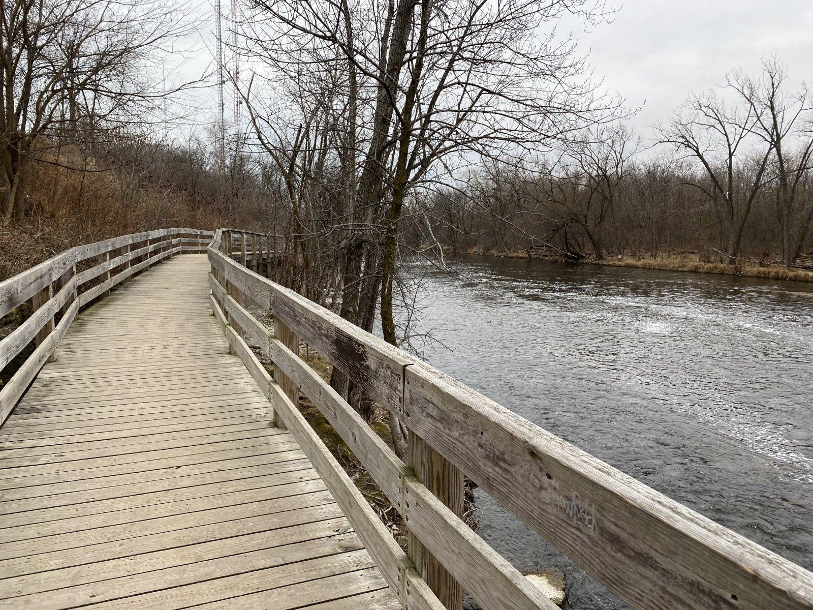 Bridge at the start of the walk