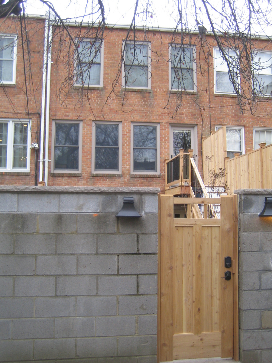 Ron Johnson\'s new fence and gate.