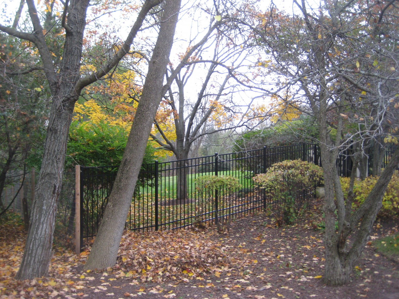 Fence surrounding O. J. Mayo\'s River Hills McMansion.